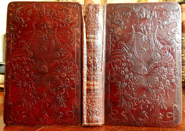 Comic Offering Literature for Women 1834 decorative gift leather illustrated