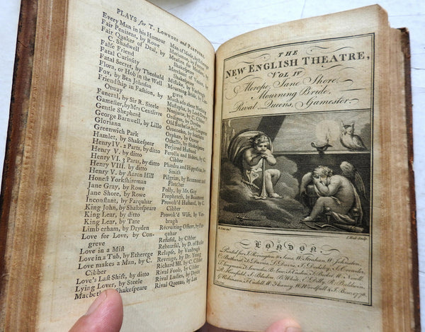 English Theatre 5 Plays Farquhar Howard Moore Cibber Foote 1777 compilation book