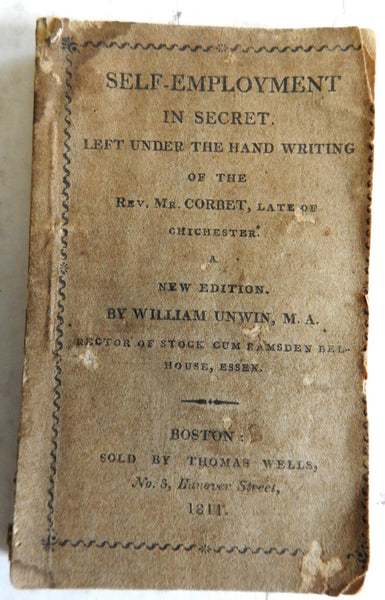 Self-Employment in Secret 1811 Unwin small pocket book Christian religion