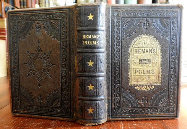 Collected Poems of Felicia Hemans Poetry Literature 1869 gift leather binding