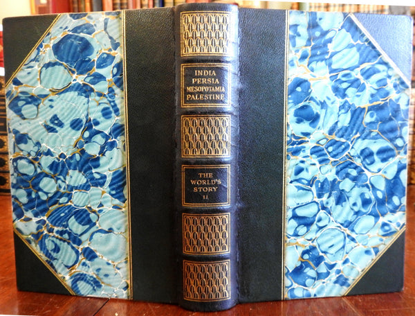History India Middle East Iran India Persia Palestine 1914 gilt leather book