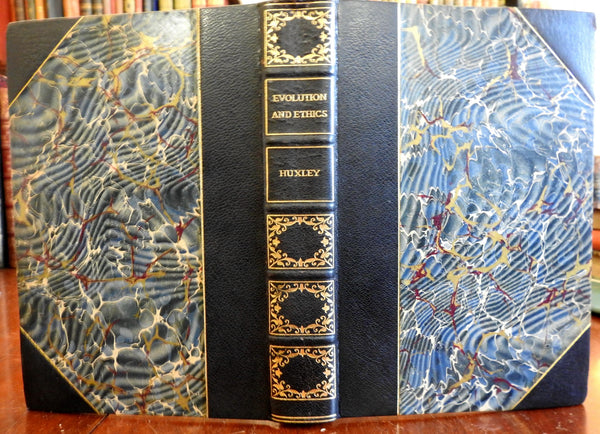 Evolution and Ethics Thomas Huxley Essays 1900 fine limited edition leather book