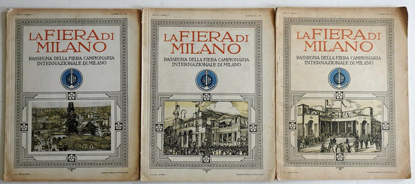 Milan Italy International Fair 1929 Lot of 3 rare illustrated trade magazines