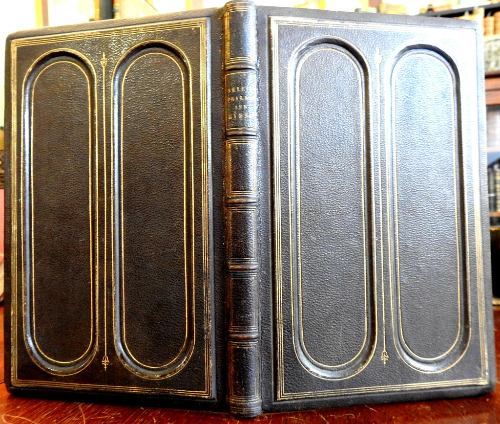 Presbyterian Hymnal Decorative Leather Binding 1868 lovely rare antiquarian book
