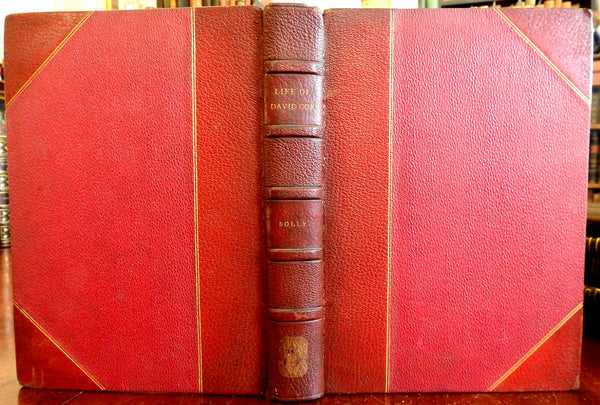 Memoir David Cox British Painter 1873 Illustrated tipped in photos leather book
