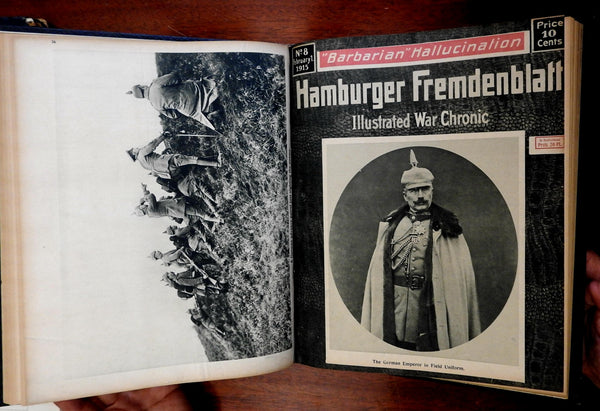Hamburg Fremdenblatt German World War One Periodical 1916 first 17 issues book