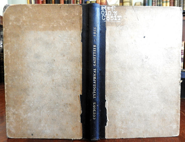 The Typographical Gazetteer 1825 Rev. Henry Cotton Reference Work Oxford book