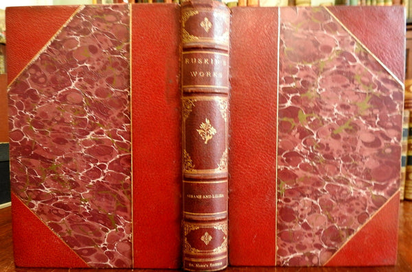 John Ruskin Sesame & Lilies Essays 1875 St. Mark's limited edition leather book