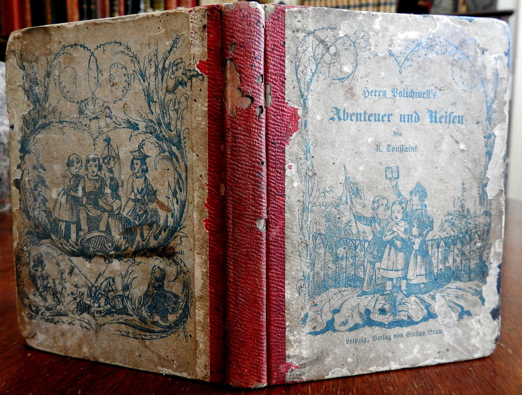 Polichinell's Harlequins Children's Stories 1850s Illustrated hand color book
