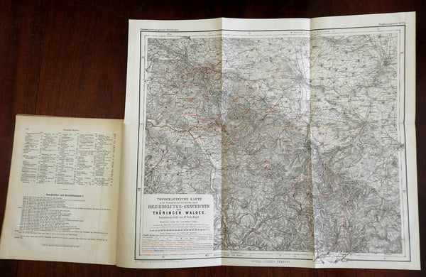 Germany Thuringian Forest Urban Development 1884 Regel Petermann w/ color map
