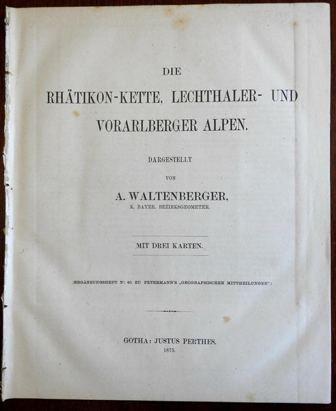 Ratikon Lechthaler Vorarlberger Alps Mountaineering 1875 Waltenberger 3 maps