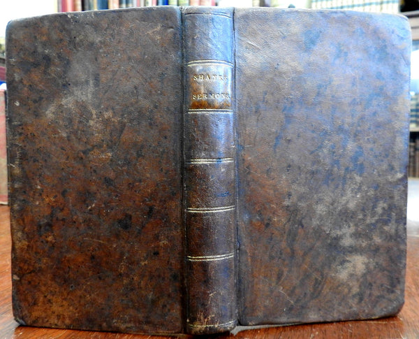 Alexander Shanks Collected Sermons 1820 nice leather book 1st American Edition