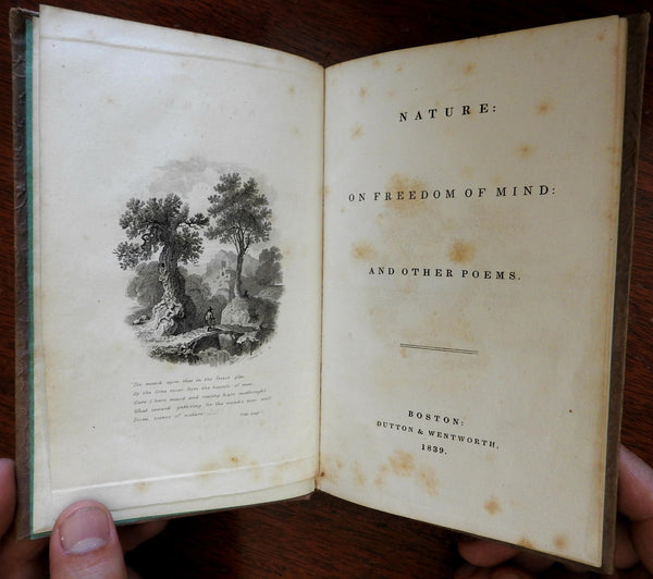 Nature On Freedom of the Mind 1839 rare transcendentalist book