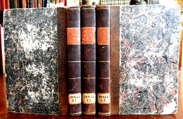 Louis Courier Complete Works 1829 rare French books 3 vol leather books set