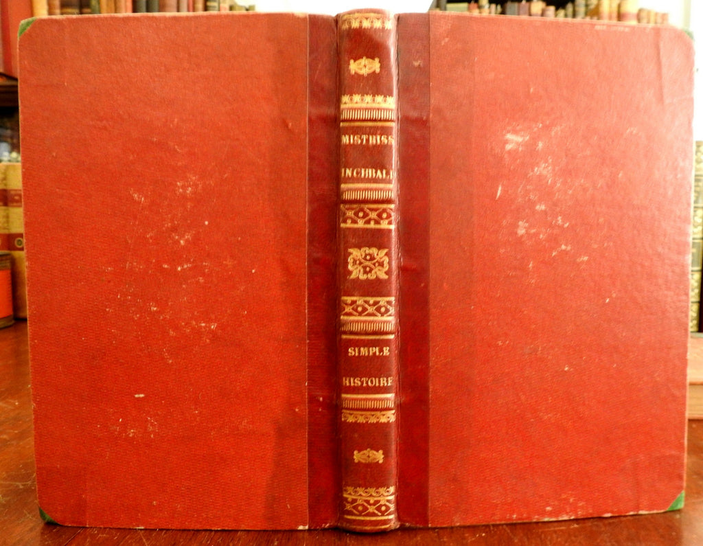 Simple Histoire 1834 Mistriss (Elizabeth) Inchbald Lady Mathilde French book