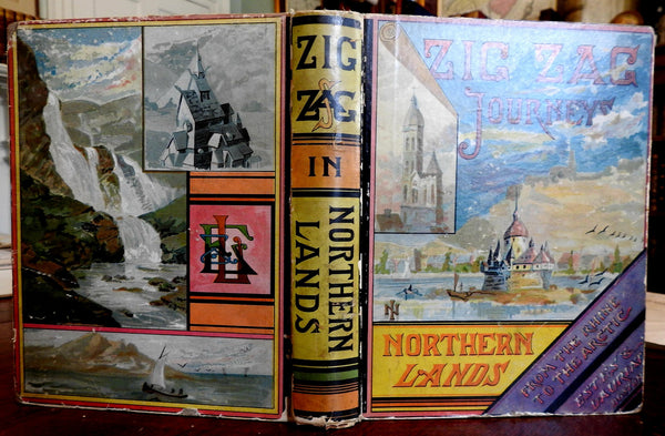 Zigzag Journeys Northern Lands Arctic Norway 1883 Butterworth illustrated book