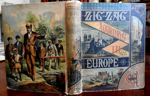 Zigzag Journeys in Europe 1883 Hezekiah Butterworth illustrated book
