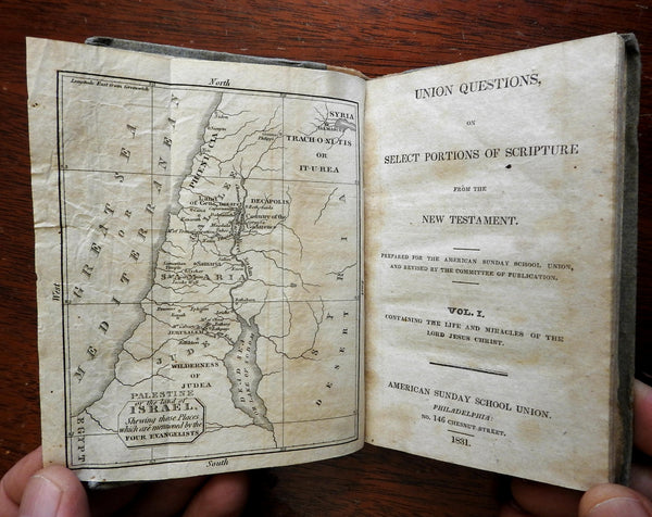 New Testament Primer 1831 American Sunday School Union Juvenile's Book with Map