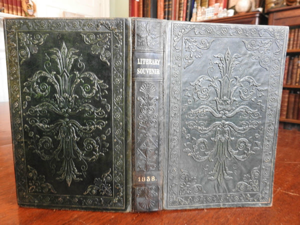 Literary Souvenir 1838 Collected Poems Illustrations fine embossed leather book