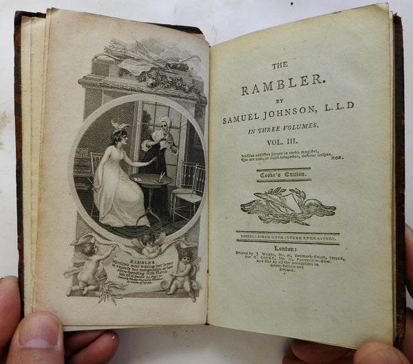 The Rambler Samuel Johnson 1800 Illustrated plates English Periodical 3 vol. set