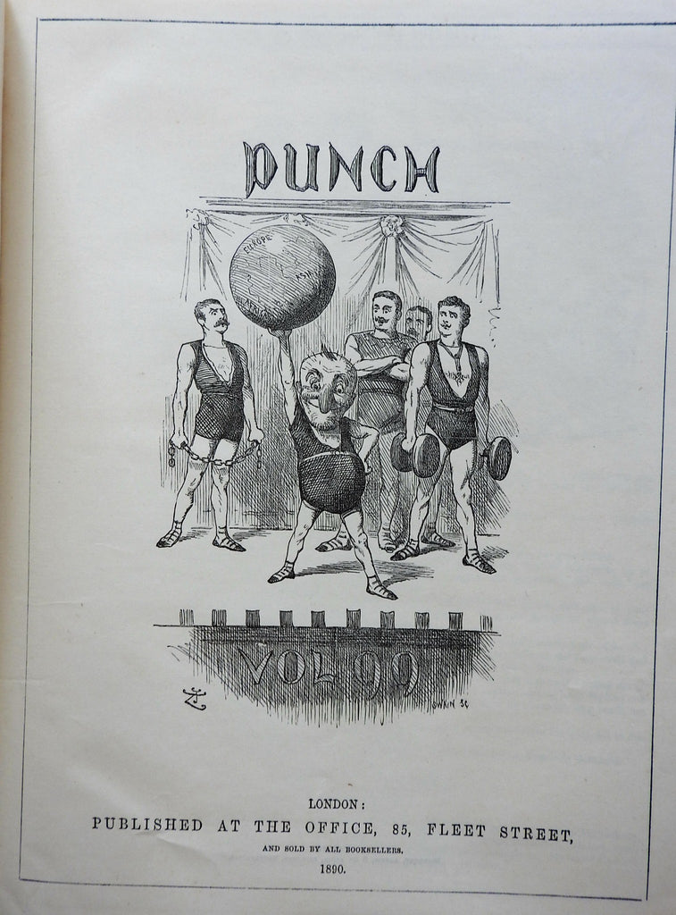 Punch 1890 Bound Periodical Political & Funny Cartoons Irish racism