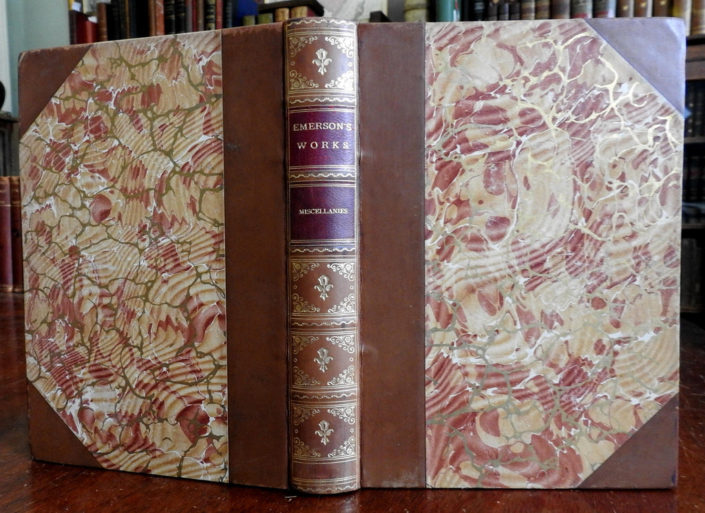 Ralph Waldo Emerson Miscellaneous Works 1909 lovely leather bound book
