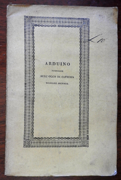 Napoleonic Italy Agricultural Manual Sciences 1811 Luigi Arduino Padua book