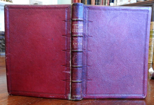 English Sonnets collection 1833 Shakespeare Milton Spencer old leather book