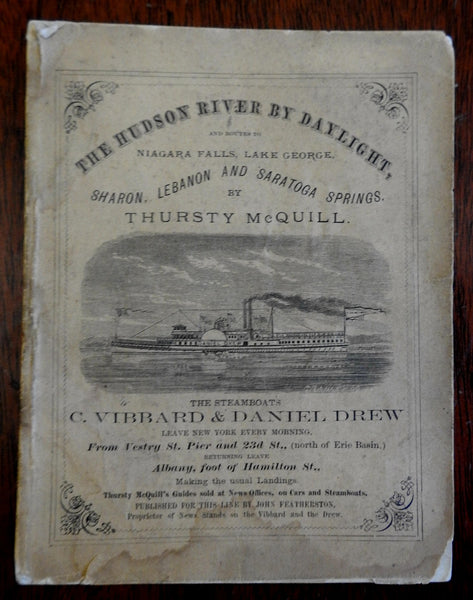 Hudson River by Daylight 1873 Thursty McQuill American Travel Guide Old Ads