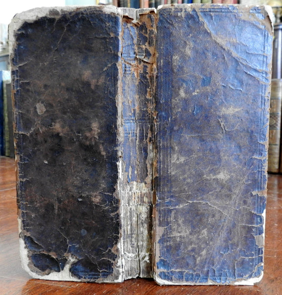 Biblical Commentary 1732 German oblong leather book