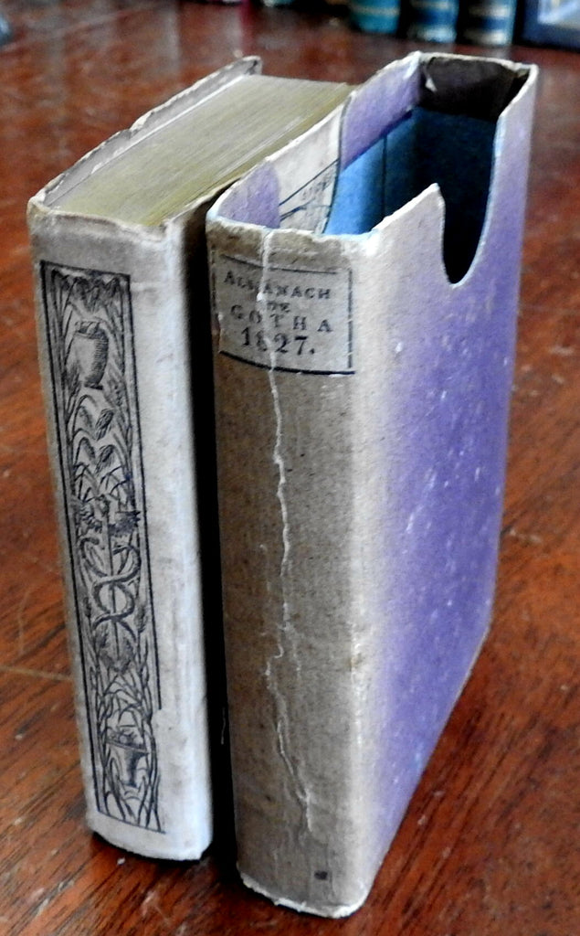 Gotha Almanack for 1827 Justus Perthes nice old book in publisher's slip case