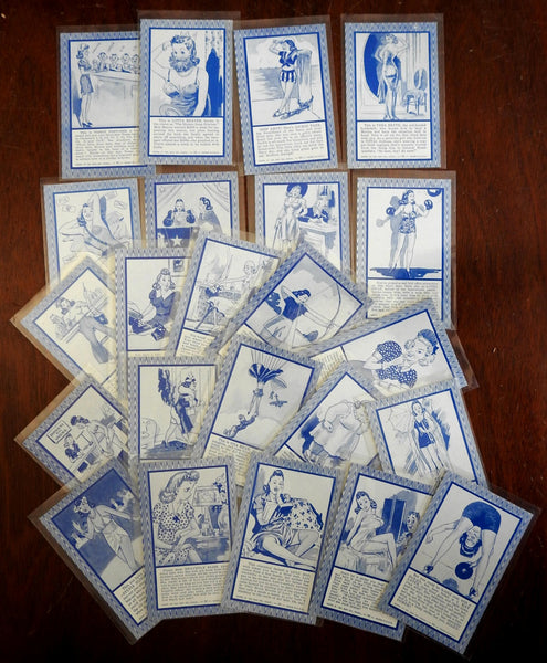 Blind Date Chicago Arcade Cards 1941 Ex. Sup Co Lot of 23 vintage Risque cards.