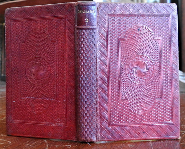 Collected Works of Felicia Hemans 1837 English poetry decorative leather book