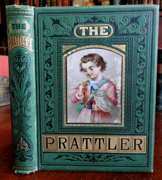The Prattler Picture and Story Book for Children 1876 illustrated old book
