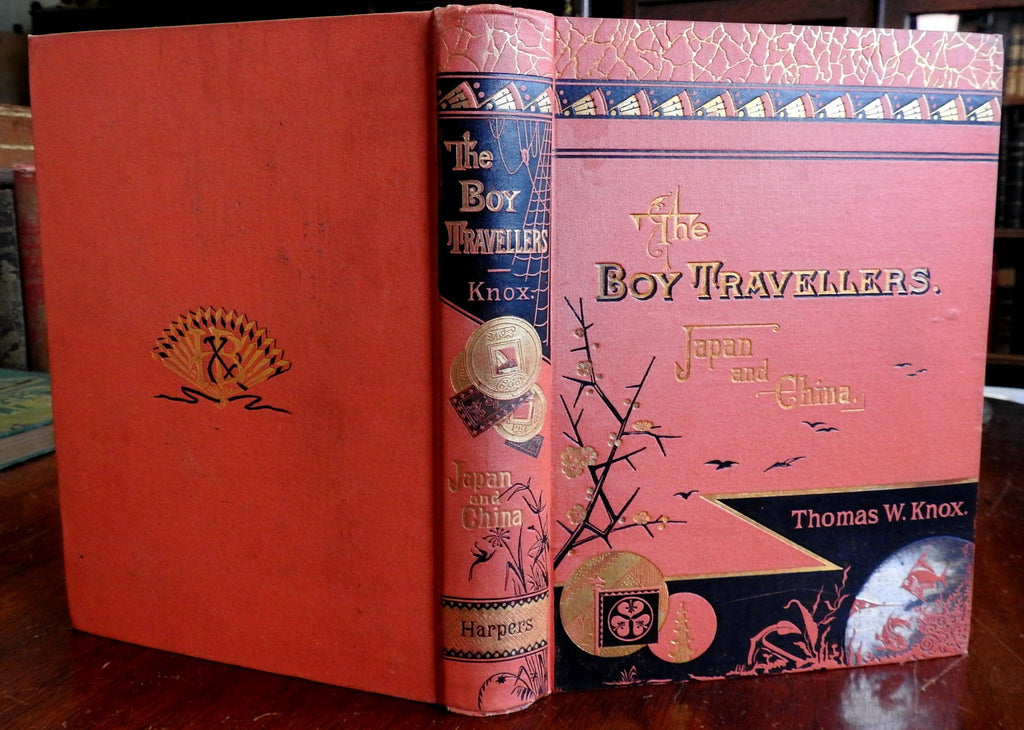 Boy Travelers in Japan and China 1880 Thomas W. Knox illustrated juvenile book