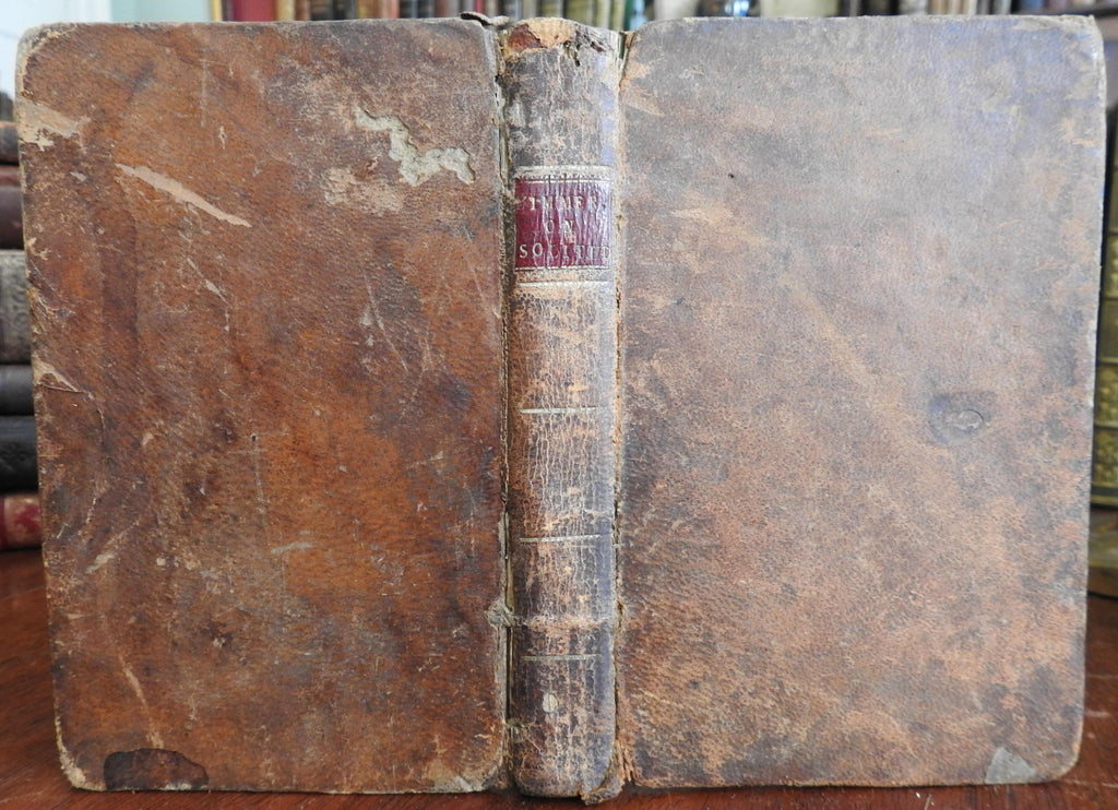 Solitude Considered 1793 Zimmerman early American leather book philosophy