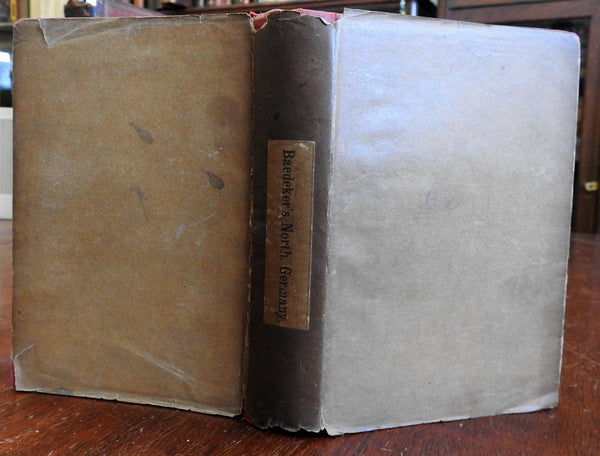 Northern Germany 1893 Baedeker's Guide with original paper dust jacket