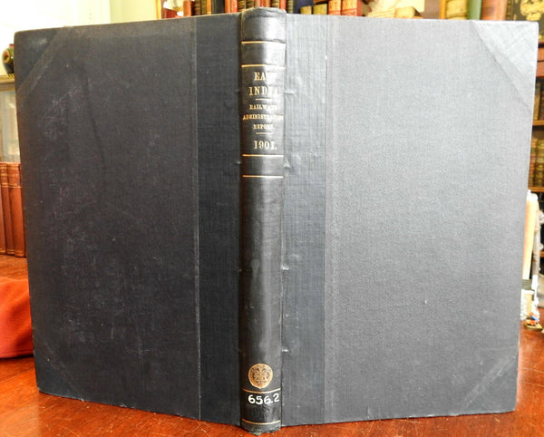East India Railways 1901 Administration government Report massive very detailed