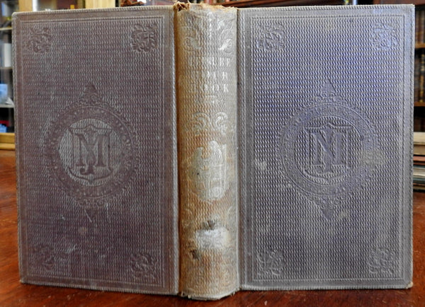 Leisure Hour Book Travel History Science 1855 illustrated book