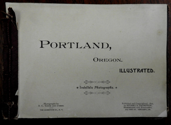 Portland Oregon 1892 Photo Album 18 views albertypes Hotels Churches Mt. Hood
