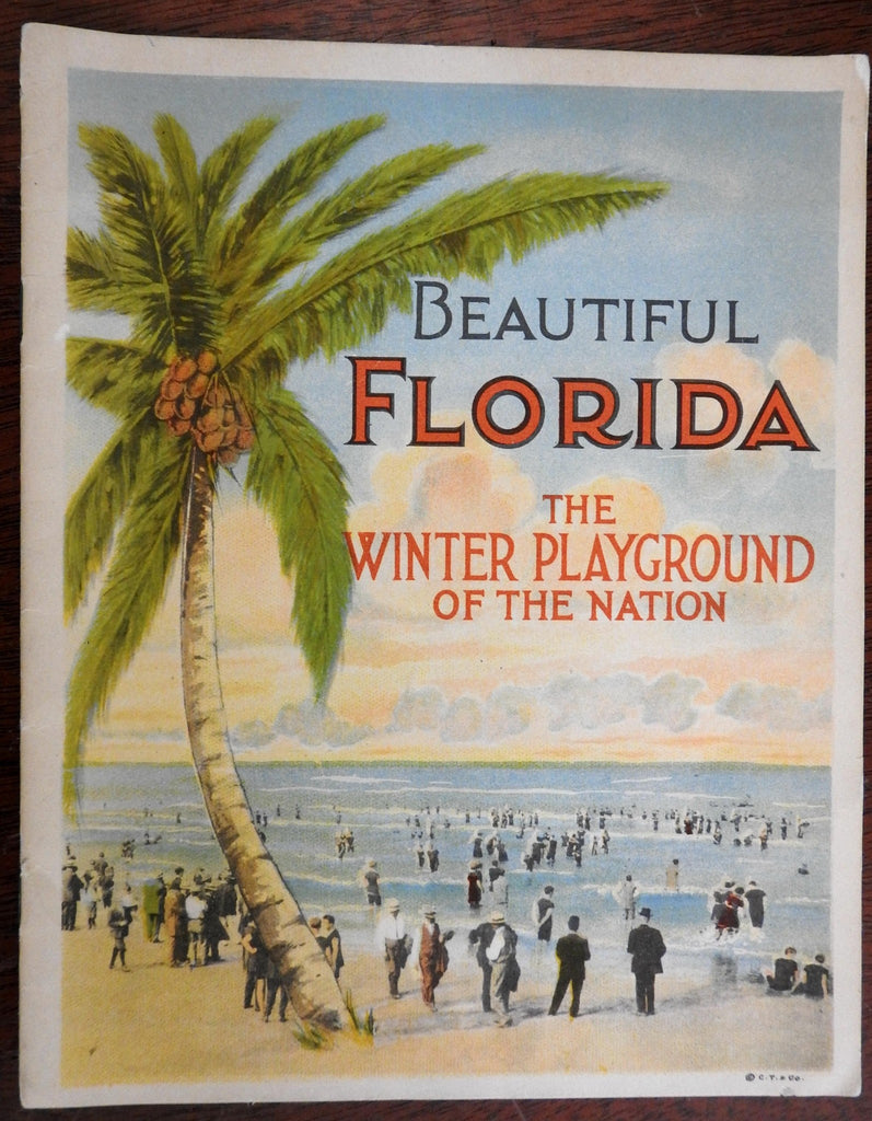 Beautiful Florida Tourism in 1920's lovely album w 30 color lithographed views
