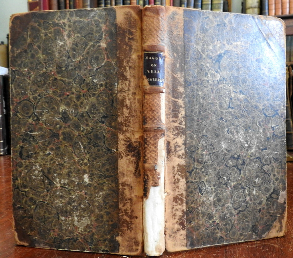 Self-Knowledge: A Treatise Human Nature conduct 1802 John Mason old leather book