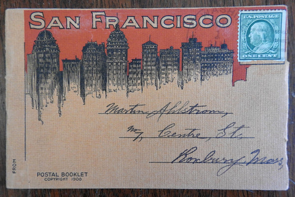 San Francisco Booklet 1908 16 Rotogravure B&W photos