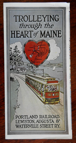 Maine Trolley Portland to Waterville & Old Orchard Beach c. 1900 reprinted 1969