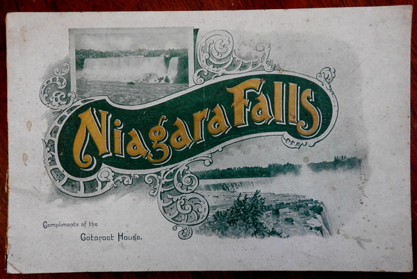 Niagara Falls New York c.1900 Cataract House promotional tourist book w/ pics