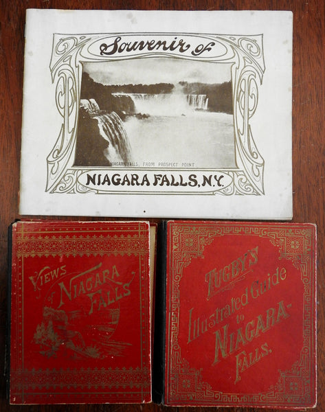 Niagara Falls New York 1880 Lot x 3 vintage/ antique tourist souvenir view books