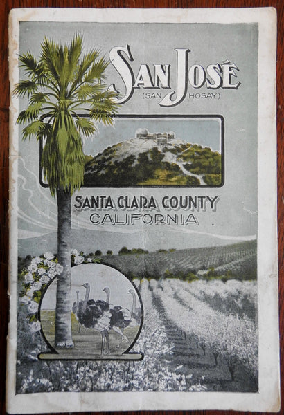 San Jose California Santa Clara County c.915 Chamber Commerce promotional book