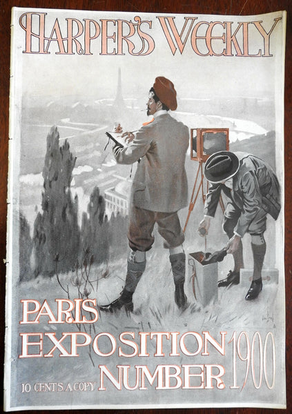 Paris World Exposition Number 1900 Harper's Weekly pictorial issue color cover