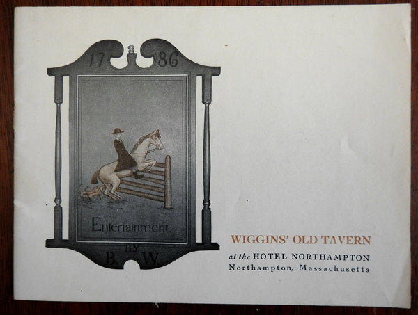 Wiggins' Old Tavern Hotel Northampton Massachusetts c.1920 brochure w/ photos