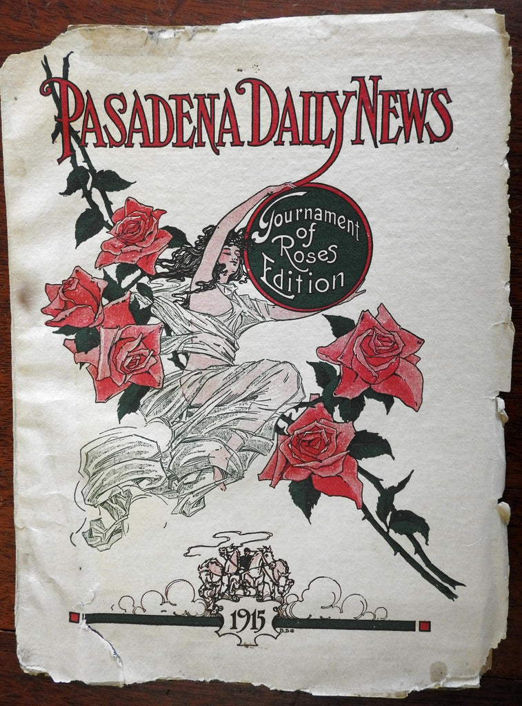 Pasadena California 1915 Tournament of Roses parade Souvenir book b&w photos